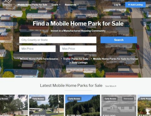 Mobile Home Park Listings Website Design