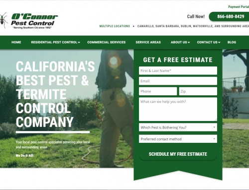 Pest & Termite Control Website